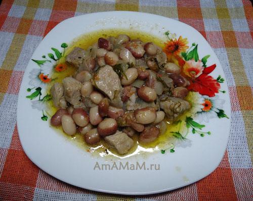 Как готовить фасоль с мясом - простой рецепт рагу с фасолью и свининой