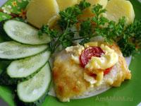 Вкусный рецепт запекания дорадо с помидором под сыром с майонезом