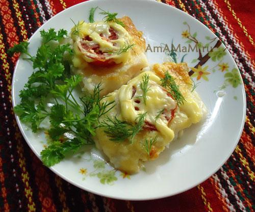 Очень вкусное блюдо из дорадо - запекака с сыром и помидорами!