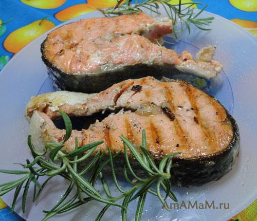 Красная рыба - гриль очень вкусный и простой рецепт