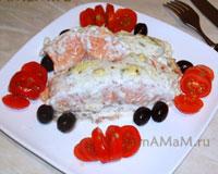 Очень вкусное запеченное с голубым сыром с плесенью филе лосося