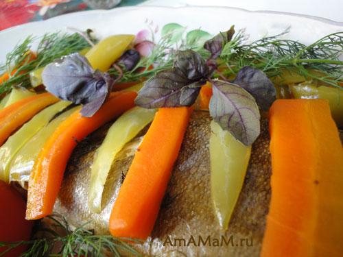 Как печь овощи с рыбой в рукаве или пакете
