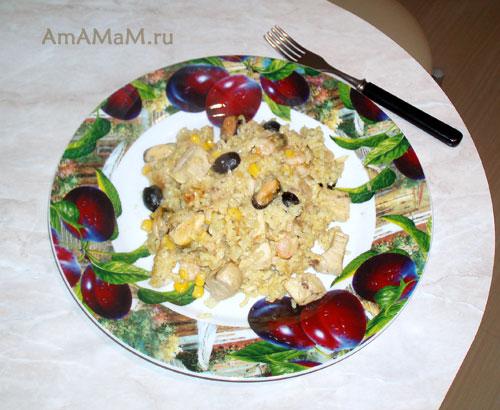 Готовим вкусную паэлью с морскими гадами и рыбой!