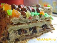 Рецепт торта Наполеон из готового теста
