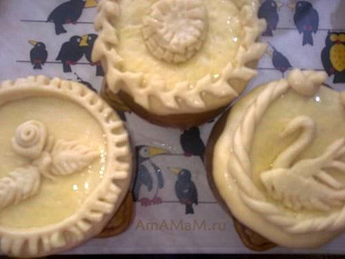 Как делают украшения на пирогах (дрожжевое тесто)