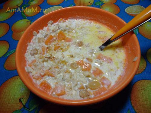 Что сделать с тыквой - вкусный и простой рецепт каши