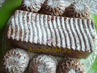 Очень вкусный домашний кекс с орехами, изюмом и кусочками шоколадки!
