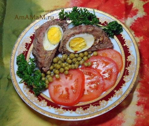 Способ приготовления котлет с яйцом внутри - Яйца по-шотландски