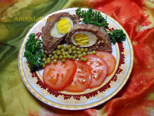 Рецепт приготовления Шотландского глаза - простое и вкусное мясное блюдо с яйцом внутри!