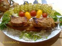 Очень вкусное жареное мясо на шампурах в сковородке по испанскому рецепту!