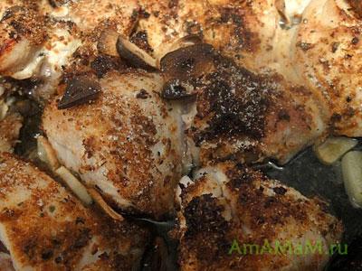 Готовая куриная грудка, запеченная в аэрогриле
