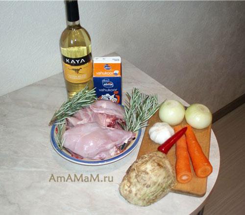 рецепт как тушить кролика