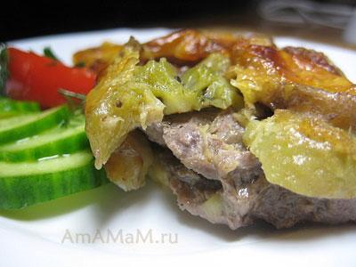 Вкусное, сочное, праздничное мясо (свинина), запеченная в духовке