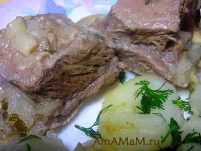 Вкусное и простое блюдо из телячьих ребрышек с яблоками по-армянски