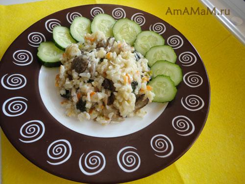 Что приготовить из риса и вешенок - вкусное грибное ризотто