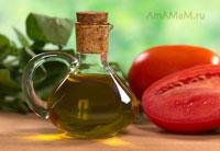 Оливковое масло в бутылочке
