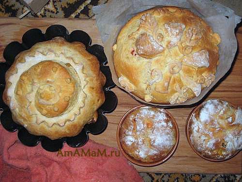 Пасхальные кексы в формах - фото