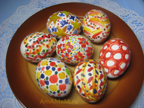 Красивые пасхальные яйца - фото