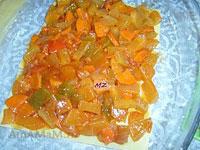 Выкладываем овощной слой лазаньи