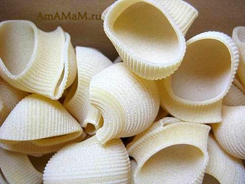 Сухе итальянские макароны (паста) в виде больших улиток называется Лумакони