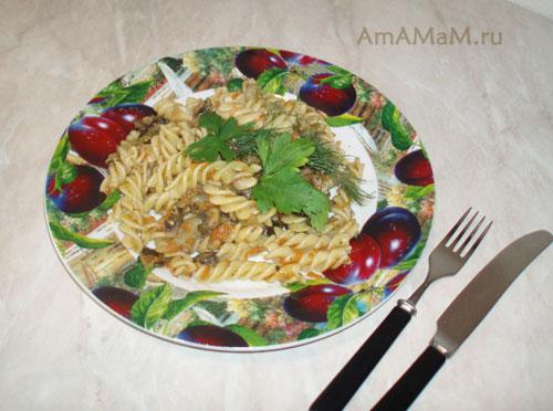 Очень вкусные макароны обжаренные с овощами на ужин