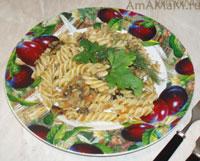 Очень вкусные макароны спиральки с жареными овощами!
