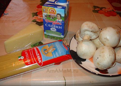 Из чего сделать сливочный соус для спагетти с грибами