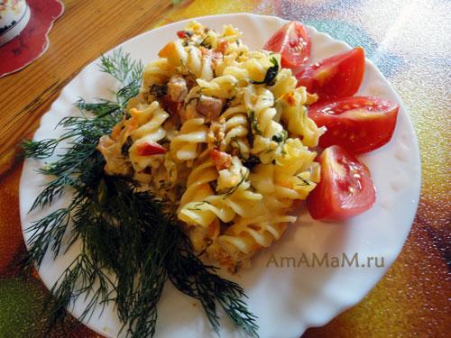 Как запечь макароны с мясом в соусе