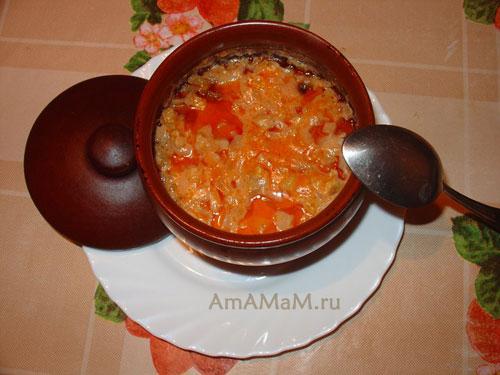 Рагу из мяса с овощами в горшочке в духовке