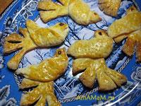 Приготовление фигурного печенья в форме птиц