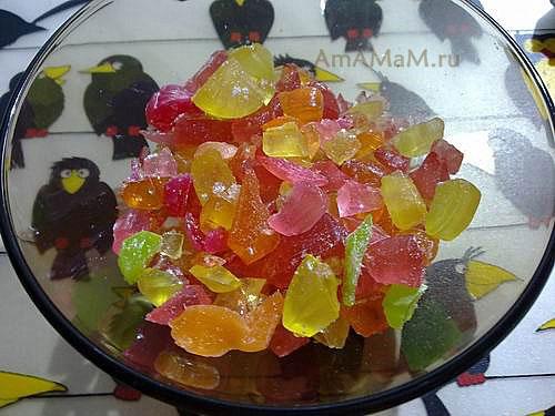 Конфеты - леденцы для сладкого стеклышка в печенье