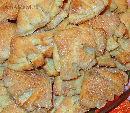 Как свернуть печенье треугольником - очень вкусная выпечка из творога!