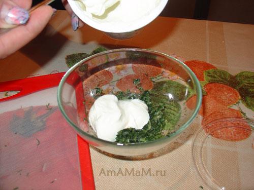 Приготовления простого соуса для пельменей