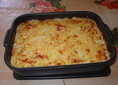 пельмени в духовке с сыром и сметаной и яйцом