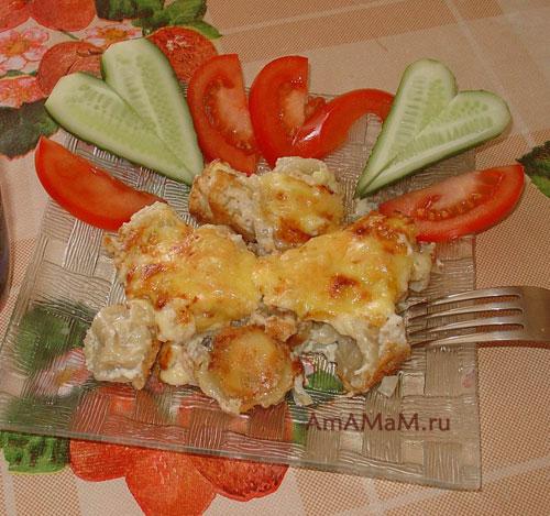 Вкусные и сытные пельмени, запеченные в духовке