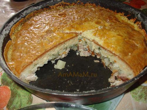 Что испечь из свинины и картошки - легкий рецепт мясного пирога! Очень вкусно!