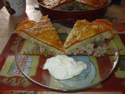 Простой рецепт вкусного мясного пирога с фото!