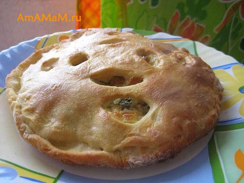Очень вкусный осетинский пирог с сочной начинкой!