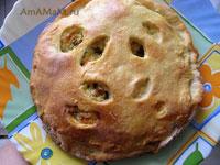 Очень вкусный и сытный осетинский пирог с творогом, сыром и зеленью