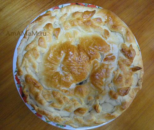 Как выглядит пирог с щавелем