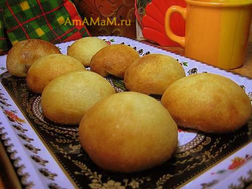 Очень вкусные постные пирожки с яблочно-вишневой начинкой (из варенья)