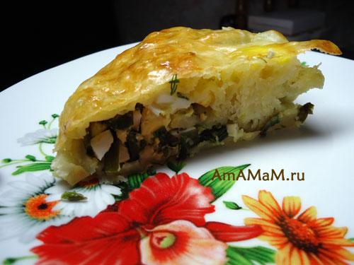 Рецепт простого рыбного пирога со слоеным тестом