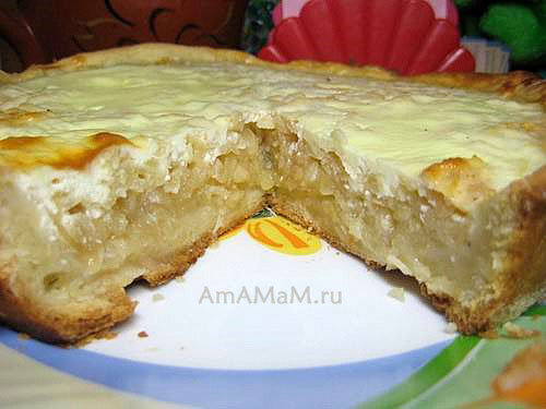 Рецепт вкусного пирога с яблоками и сметанным суфле!