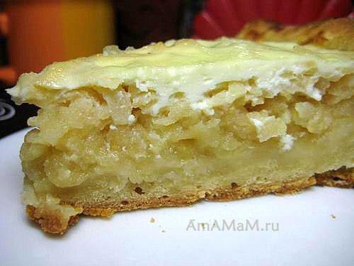 Начинка яблочного пирога - рецепт и фото