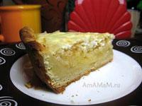 Простой яблочный пирог с песочным тестом - рецепт и фото
