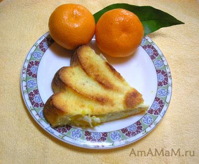 Творожник с мандаринами - очень вкусный и простой!