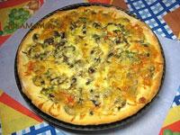 Очень вкусная дешевая пицца с грибами и сыром
