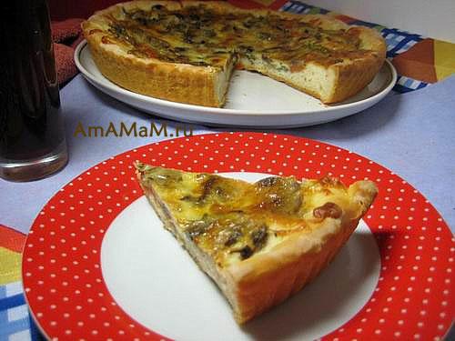 Очень вкусная и недорогая пицца с шампиьонами и сыром сулугуни