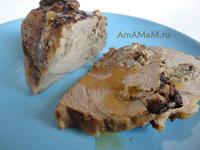 Очень вкусная свинина, начиненная грибами (вешенками)