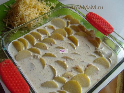 Как сделать картофель гратен